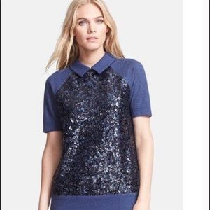"""KATE SPADE """"Milo"""" with Blue Sequins"""